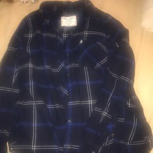 Abercrombie and Fitch blue plaid shirt
